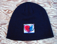 Cosmic Interlude of Love Heart Organic Cotton Beanie Hat