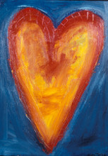 Corazon del sol (Heart of the sun) Heart Painting