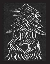 Pine Tree w/Heart Greeting Card