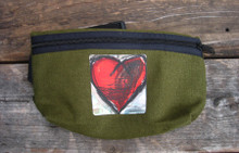 Falling into Ecstasy Heart Hemp Hip Pack