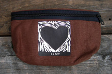 Primal Love Heart Hemp Hip Pack