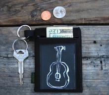 Guitar Hemp Key Coin Purse