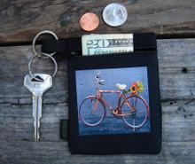 Bamboo Bike Hemp Key Coin Purse