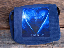 Blue Heart in TAHOE (painting) Small & Large City Slicker Hemp Purse/Bag