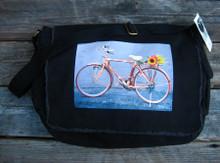 Bamboo Bike Cotton Messenger Bag