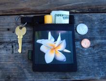 Plumeria Hemp Key Coin Purse