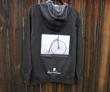 Penny Farthing Bike (Bicycle) Men's Dharma Bum Organic Cotton  Sweatshirt/hoodie