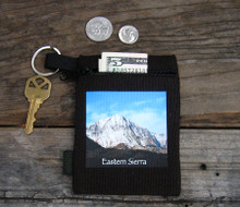 Snow covered Mountain Eastern Sierra Hemp Key Coin Purse