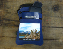 Mono Lake with Eastern Sierra Mountain Range #830 Hemp 3 Zip bag/Purse