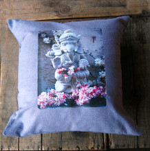 Ganesh Handcrafted, Eco Dyed Cotton Pillow