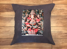 Ganesh #2 Handcrafted Eco Dyed Cotton Pillow