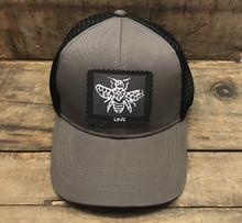 Bee Love Keep on Truckin' Organic Cotton Trucker Hat