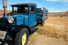 Blue Truck #812 Bodie State Park Greeting Card