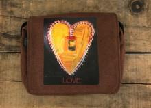 Love Supreme Heart City Slicker Small & Large Hemp Purse