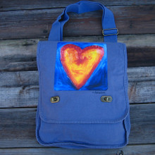 Corazon del Sol (heart of the sun) Heart Field Bag