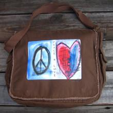Peace & Love Messenger Bag