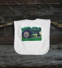 Tractor Certified Organic Cotton Baby Bib