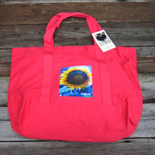 Majestic sunflower beach/market tote