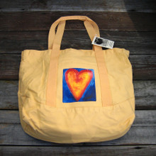 Corazon del sol (heart of the sun) beach market tote