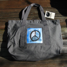 Peace sign beach/market tote