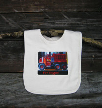 Fire Engine Certified Organic Cotton Baby Bib