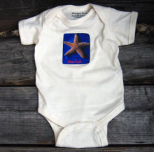 Starfish organic cotton baby onesie