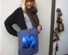 Blue Heart in Tahoe field bag