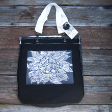 Black Sunflower girly tote/purse