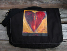 Sacred Love Heart messenger bag