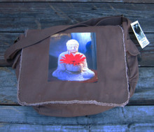 Buddha with Gerbera Daisy Messenger bag