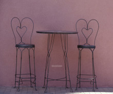 Heart Chairs greeting card