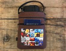 Love, peace & happiness Hemp 3 Zip Bag/Purse