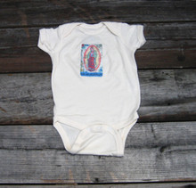 Our Lady of Guadalupe organic cotton onesie