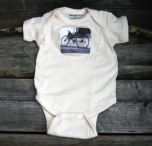 Bike organic cotton baby onesie