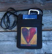Sacred Love Hemp 3 Zip Bag/Purse