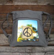 Peace sign Taos Boho Cinch Back Pack