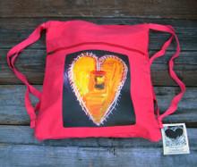 Love Supreme Heart Boho Cinch Back Pack