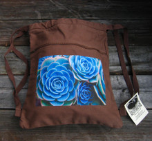 Hens & Chickens Succulents Boho Cinch Back  Pack