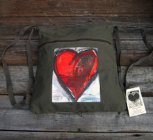 Falling into Ecstasy Heart Boho Cinch Back Pack