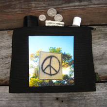 Peace Sign Taos Medium & Large Hemp Coin Purse
