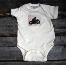 Motorcycle symbol Organic Cotton Baby Onesie