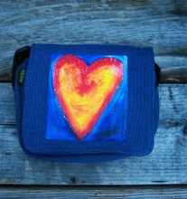 Corazon del sol (Heart of the sun) Small & Large City Slicker Hemp Purse