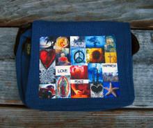 Love & Peace & Happiness Small & Large City Slicker Hemp Purse/Bag