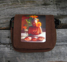 Buddha Dhyana Mudra Small & Large City Slicker Hemp Purse/Bag