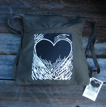 Flaming Heart of Love Boho Cinch Back Pack