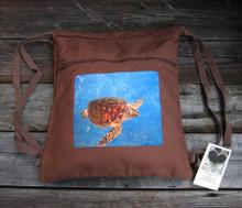 Sea Turtle Boho Cinch Back Pack