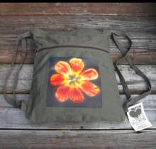 Groovy Tulip Boho Cinch Back Pack