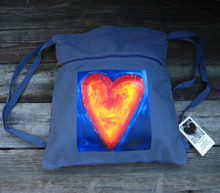 Corazon del sol (heart of the sun) Boho cinch backpack