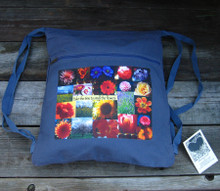 Take the time to smell the flowers Boho Cinch Backpack