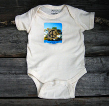 Peace Sign Taos Organic Cotton Baby Onesie